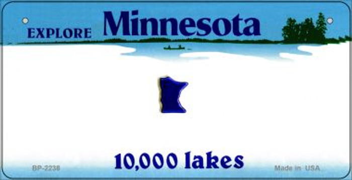 Minnesota Novelty State Background Bicycle License Plate