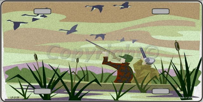 Duck Hunting Camouflage Wholesale Metal Novelty License Plate