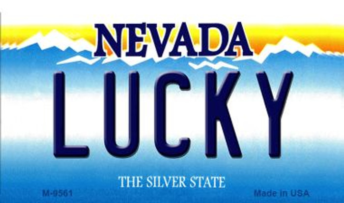 Lucky Nevada Background Wholesale Novelty Metal Magnet