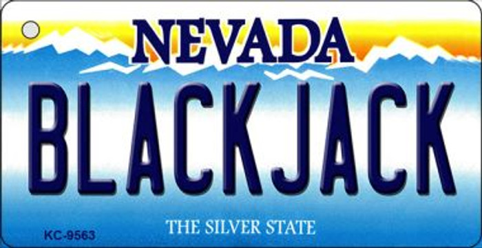 Black Jack Nevada Background Wholesale Novelty Key Chain