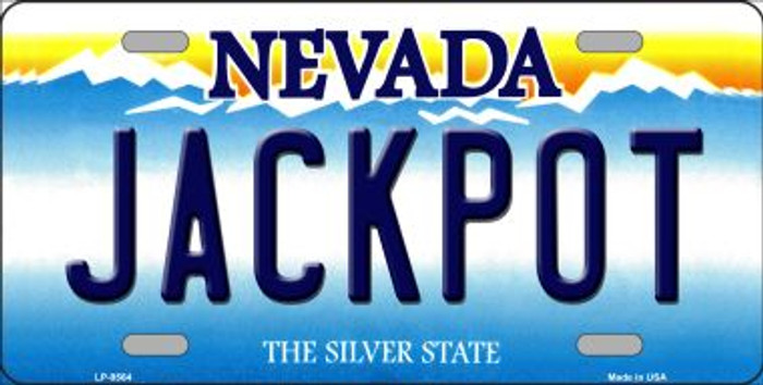 Jack Pot Nevada Background Novelty Wholesale Metal License Plate