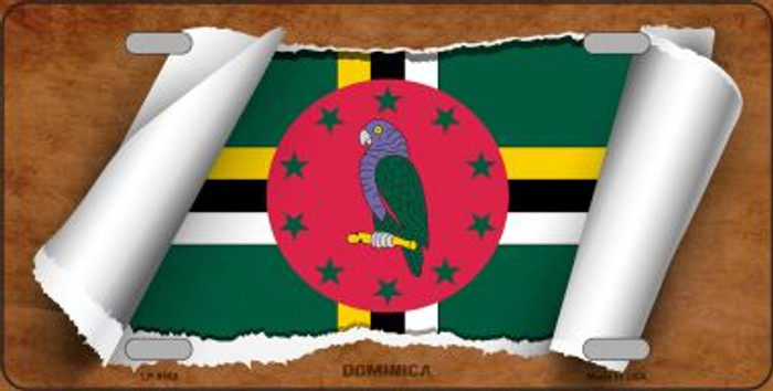 Dominica Flag Scroll Wholesale Metal Novelty License Plate