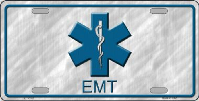 EMT Wholesale Metal Novelty License Plate LP-2132