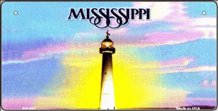 Mississippi Novelty State Background Bicycle License Plate