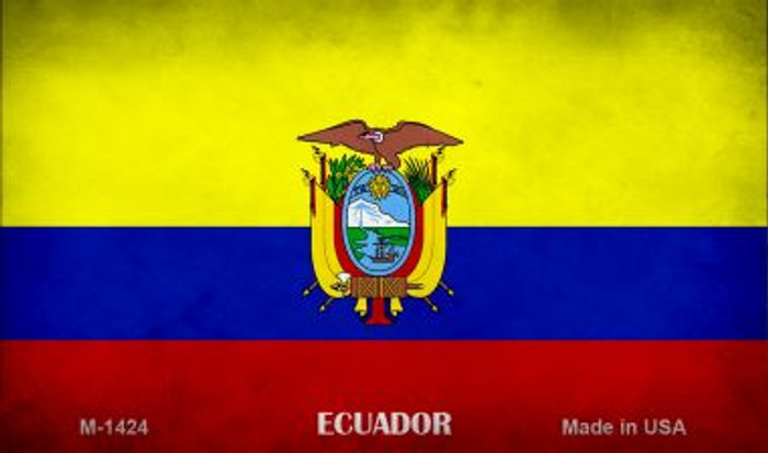 Ecuador Flag Wholesale Novelty Metal Magnet