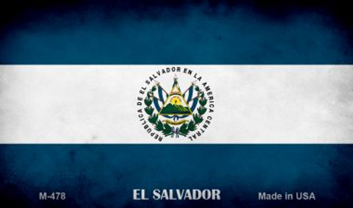El Salvador Flag Wholesale Novelty Metal Magnet