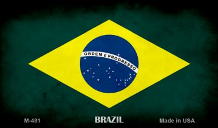 Brazil Flag Wholesale Novelty Metal Magnet