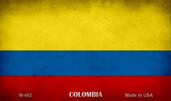 Colombia Flag Wholesale Novelty Metal Magnet