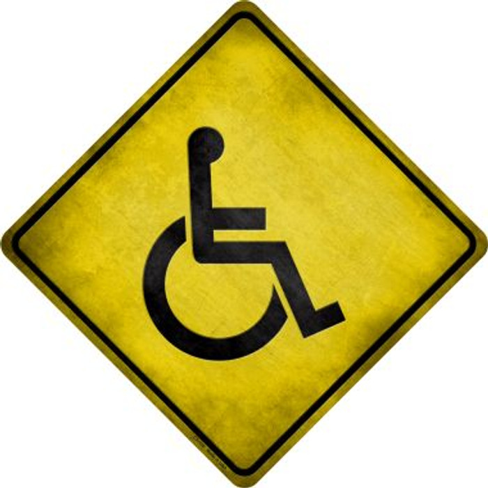Handicap Novelty Metal Crossing Sign Wholesale