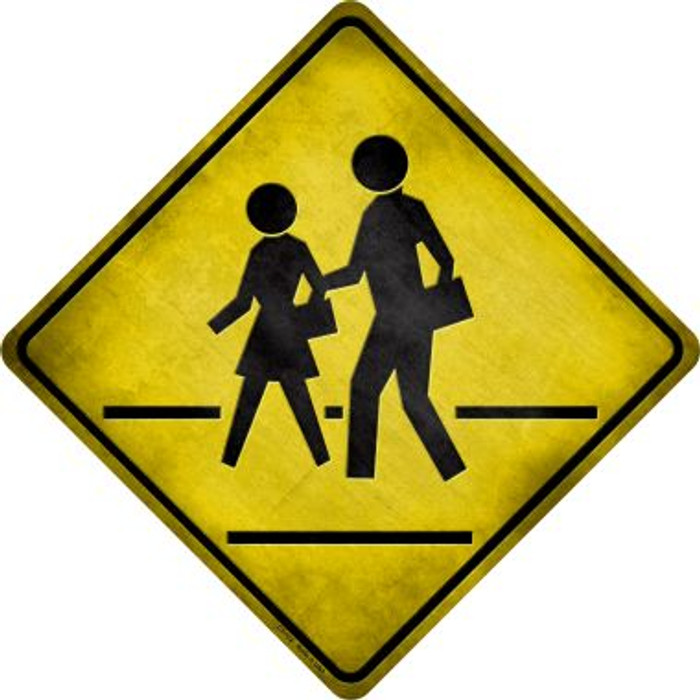 Pedestrian Crossing Wholesale Novelty Metal Crossing Sign