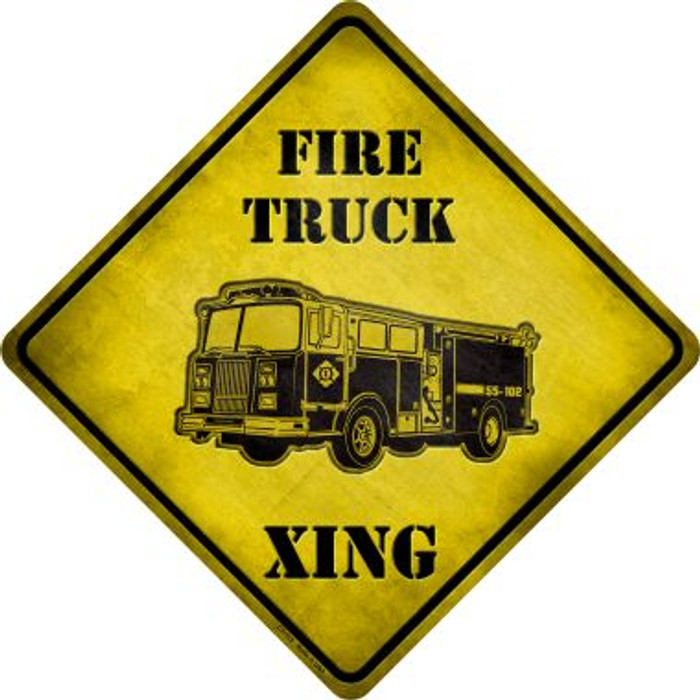 Fire Truck Xing Wholesale Novelty Metal Crossing Sign