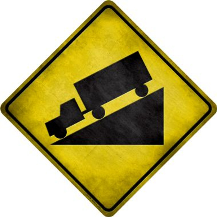 Down Grade Wholesale Novelty Metal Crossing Sign