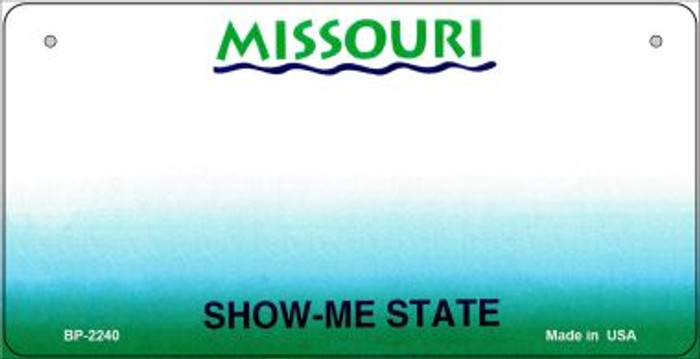 Missouri Novelty State Background Bicycle License Plate