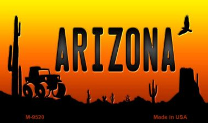 Jeep Arizona Scenic Background Wholesale Novelty Metal Magnet