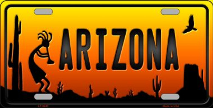 Kokopelli Arizona Scenic Background Novelty Wholesale Metal License Plate