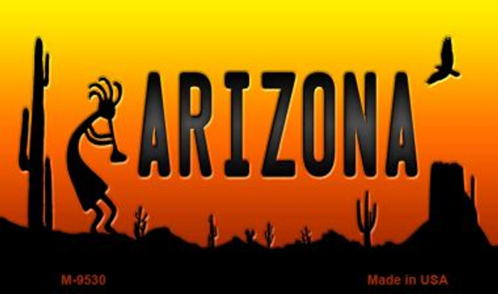 Kokopelli Arizona Scenic Background Wholesale Novelty Metal Magnet
