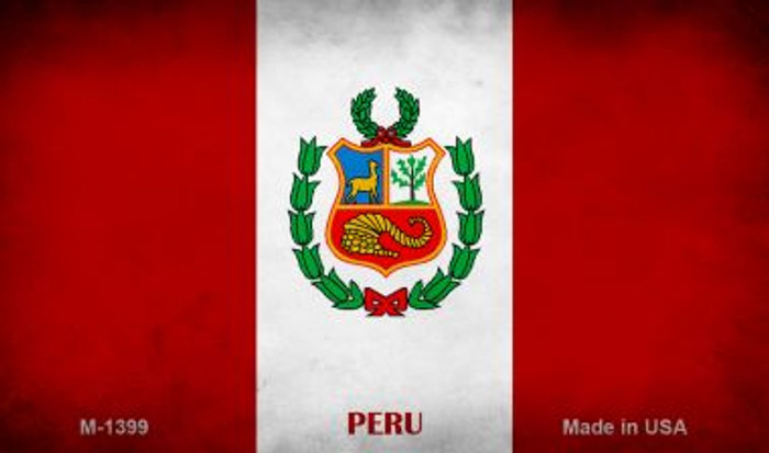 Peru Flag Wholesale Novelty Metal Magnet