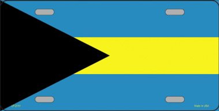 Bahamas Flag Wholesale Metal Novelty License Plate LP-2151