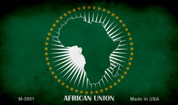 African Union Flag Wholesale Novelty Metal Magnet