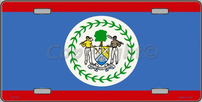 Belize Flag Wholesale Metal Novelty License Plate