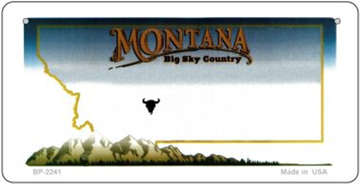 Montana Novelty State Background Bicycle License Plate