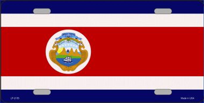 Costa Rica Flag Wholesale Metal Novelty License Plate