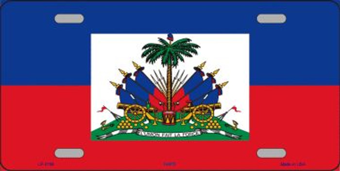 Haiti Flag Wholesale Metal Novelty License Plate LP-2156