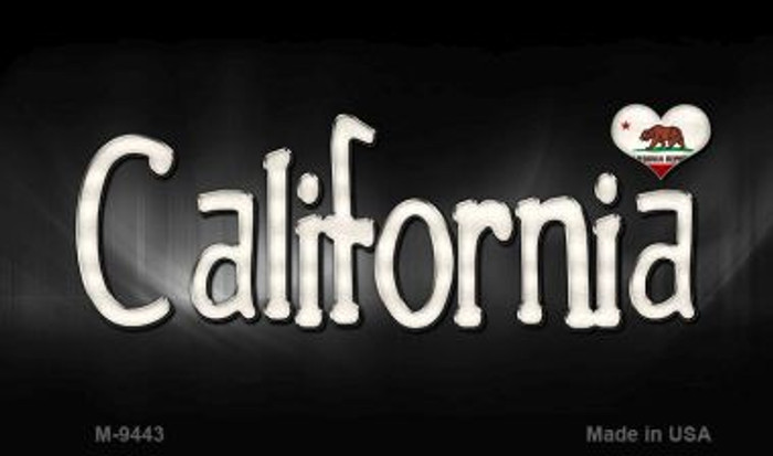 California Flag Script Wholesale Novelty Metal Magnet