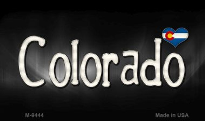 Colorado Flag Script Wholesale Novelty Metal Magnet