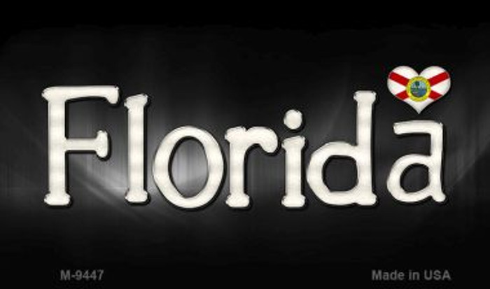 Florida Flag Script Wholesale Novelty Metal Magnet