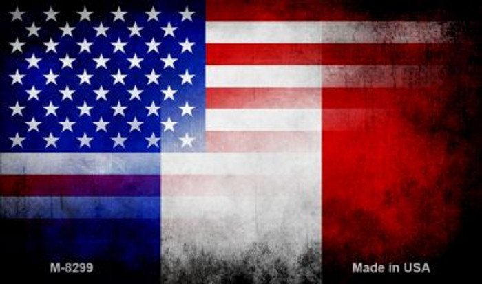 American France Flag Wholesale Novelty Metal Magnet