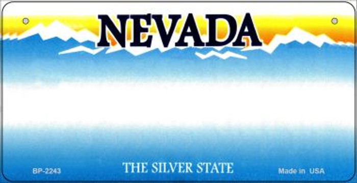 Nevada Novelty State Background Bicycle License Plate