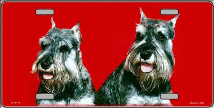 Schnauzer Dog Wholesale Metal Novelty License Plate