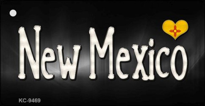New Mexico Flag Script Wholesale Novelty Key Chain