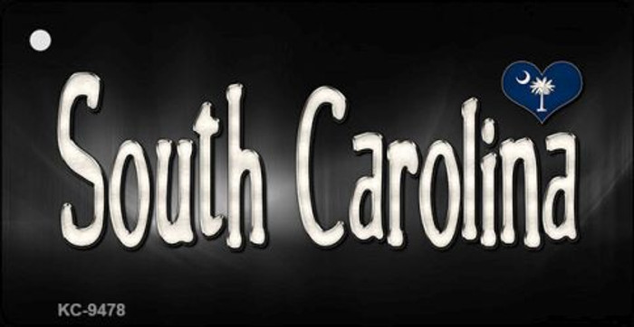 South Carolina Flag Script Wholesale Novelty Key Chain