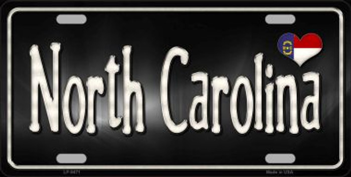 North Carolina Flag Script Wholesale Metal Novelty License Plate