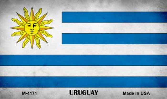 Uruguay Flag Wholesale Novelty Metal Magnet