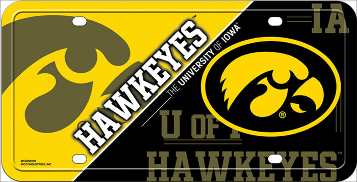 Iowa Hawkeyes Deluxe Novelty Wholesale Metal License Plate