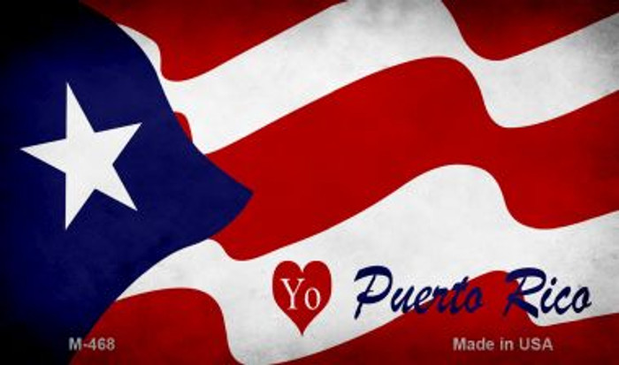 I Love Puerto Rico Flag Wholesale Novelty Metal Magnet