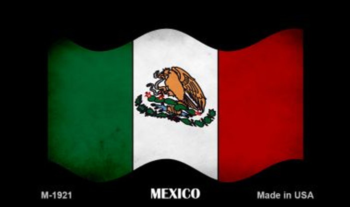 Mexico Waving Flag Wholesale Novelty Metal Magnet