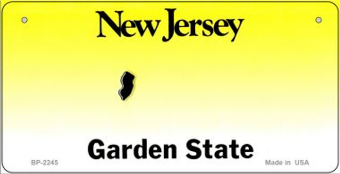 New Jersey Novelty State Bicycle License Plate BP-2245