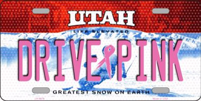 Drive Pink Utah Novelty Wholesale Metal License Plate