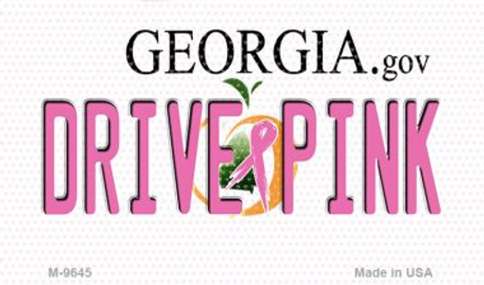 Drive Pink Georgia Wholesale Novelty Metal Magnet