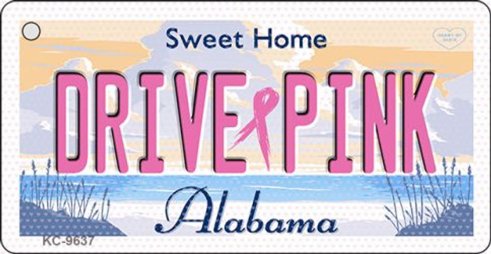 Drive Pink Alabama Wholesale Novelty Key Chain