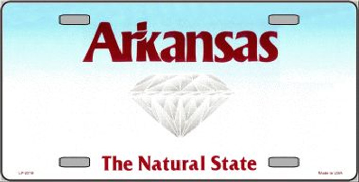 Arkansas State Background Novelty Wholesale Metal License Plate