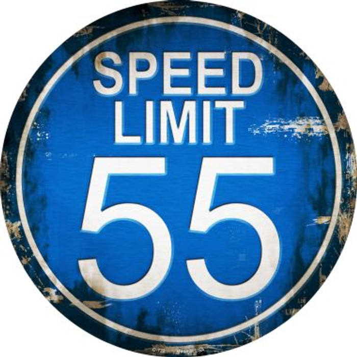 Speed Limit 55 Wholesale Novelty Metal Circular Sign