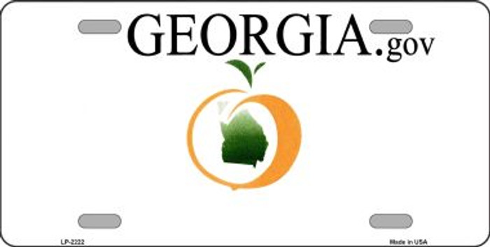 Georgia State Background Blank Novelty Wholesale Metal License Plate