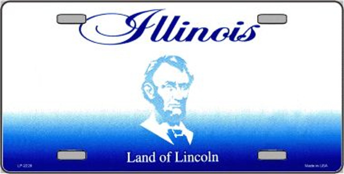 Illinois Novelty State Background Blank Wholesale Metal License Plate LP-2228