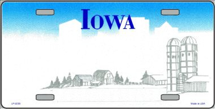 Iowa Novelty State Background Blank Wholesale Metal License Plate LP-2230
