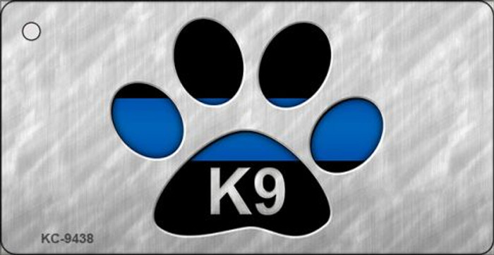 Thin Blue Line Paw K-9 Wholesale Novelty Key Chain
